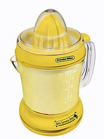 Alex's Lemonade Stand Citrus Juicer is a solid citrus juicer. For each Citrus Juicer sold, Hamilton Beach Brands will donate $1 to Alex's Lemonade Stand Foundation for childhood cancer research.