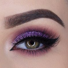 Purple glittery eyeshadow