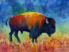 American Buffalo II Painting Print