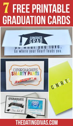 FREEE Graduation Cards- just print!!