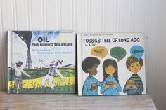 Vintage Books Kids Childrens Science Fossils Tell of Long