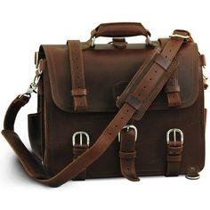 Chestnut leather briefcase... don't you just dig old, classic looking products... what a great gent's accessory....