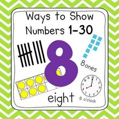 Chevron Number Posters (Ten Frames, Tallies, Base Ten)