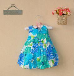 http://www.aliexpress.com/store/621900 2013 hot new Fashion Cotton girls dress beautiful baby blue flower Summer beach Dresses Children clothing Free Shipping