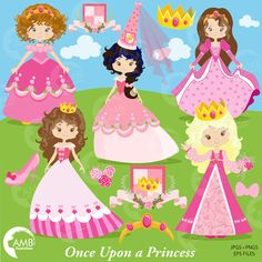 Princess in Pink Clipart Princesses Clipart Fairy Princess