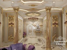 #WhiteandGold Luxury Bathroom | Antonovich Design