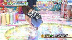 黒すぎアナ岡副麻希ミニスカ衣装でお尻クルミ割りに挑戦wwwww画像あり