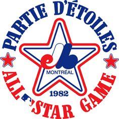 Logo from the 1982 MLB All Star Game hosted by the Montreal Expos. Mlb Team Logos, Mlb Teams, Sports Logos, Fifa Football, Cincinnati, Baseball, Basketball Uniforms, Rockets Basketball, Dream Team