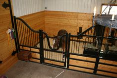 Would love to have a barn set up like this....but with runs off the stalls