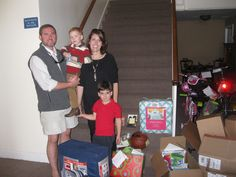 Kat and Tee Mappus (pictured), Laura Landrum and Susan Mappus (neither pictured) delivered these generous donations of #Christmas gifts for CYDC youth on December 11, 2015.