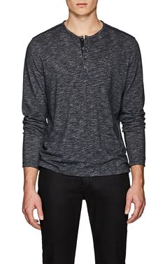 fa0e8797 John Varvatos Star U.S.A. Cotton-Blend Double-Face Henley | Barneys New York  John