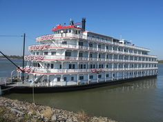 The Queen of The Mississippi Riverboat in Vacherie, Louisiana . The Queen of the Mississippi is the first new paddlewheel river boat built for the Mississippi River in nearly twenty years. It stays mostly in the New Orleans area of the river, but during the year it will take different cruises as far north as St Louis.