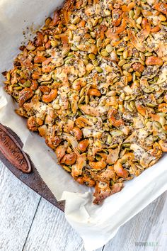 Coconut Clusters Recipe: Mixed-flavor Chocolate Barks with Seeds & Nuts Coconut Recipes Healthy, Healthy Bars, Healthy Sweets, Healthy Snacks, Healthy Eating, Coconut Clusters Recipe, Breakfast Recipes, Snack Recipes, Homemade Chips