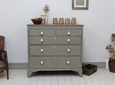 Victorian Painted Chest Of Drawers I like the grey and white contrast