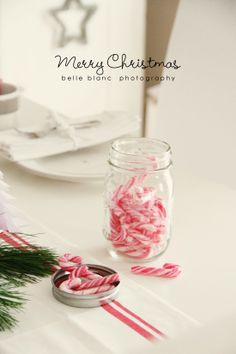 White Christmas and candy canes