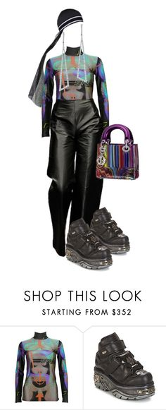 """""""Electro woman"""" by desiqn ❤ liked on Polyvore featuring Jean-Paul Gaultier, Freya, New Rock and Puma"""