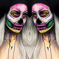 @abbe_jo morphs herself into different skeleton creatures, each with a different vibe and identity. Some versions offer a psychedelic flair, while others show gothic influences. More: http://blog.furlesscosmetics.com/abbe-johannes/