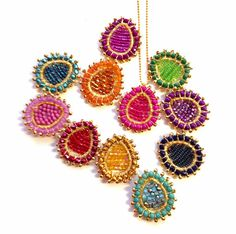 Bohemian Paisley Pendant Necklace Bollywood by PrettyLittleChips