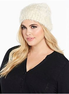 """<div><div>Totally cute for a chilly night out, this ivory faux fur beanie is not only amazing to touch, it perfectly morphs to your head for a chic look.</div></div><div><ul><li style=""""LIST-STYLE-POSITION: outside !important; LIST-STYLE-TYPE: disc !important"""">One size</li><li style=""""LIST-STYLE-POSITION: outside !important; LIST-STYLE-TYPE: disc !important"""">Acrylic</li><li style=""""LIST-STYLE-POSITION: outside !important; LIST-STYLE-TYPE: disc !important"""">Spot clean only</li><li…"""