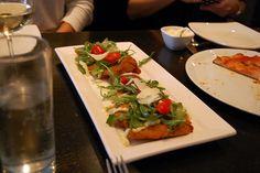 Nebo, Boston   *** Gluten Free Num Yummies!    The Choclate Pizza and Zucchini Lasanga was my favorite!  Yes Dessert FIRST!
