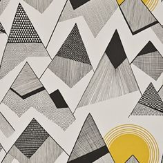 MissPrint's Mountains Sunrise wallpaper inspired by scenic peaks and fells of Great Britain.