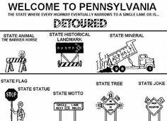 welcome to PA. I was reminded of this when I was back home in July. Every road was under construction.