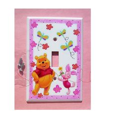 1  WINNIE  the  POOH and Piglet  pink flower by PATRINASPLACE