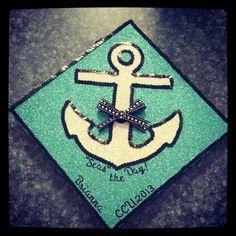 My graduation cap! Coastal Carolina University 2013. Seas the Day! #Anchor