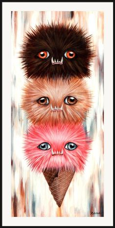 Soot Cream by Raudiel Sañudo. I think I want a version of this with Persian Cat heads.