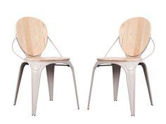 LOUIX Stühle Esszimmer 2er Set Zuiver Grau