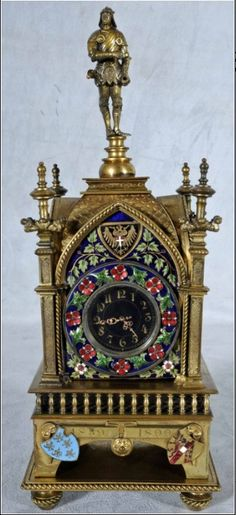 It has been a long time since Ferrebeekeeper added a new post to the gothic category. In order to remedy that deficit (and perhaps to focus somewhat on the strange & troubling nature of time i… Victorian House Interiors, Victorian Homes, Mantel Clocks, Mantle, Unusual Clocks, Retro Clock, Pocket Watch Antique, Grandfather Clock, Antique Clocks