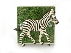 Kids Safari Themed Bedroom Zebra Dimmer Light Switch - Handmade in the UK by Candy Queen