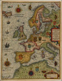Dit is een kaart die in de Renaissance is gemaakt. Mensen maakten toen kaarten vooral voor godsdienst. Dit is een van de eerste landkaarten waarop het land realistisch is weergegeven. Het is gemaakt in 1592 door Lucas Janszoon Waghenaer. Dit is ook meteen de plek waar de Renaissance was. De Renaissance was in Europa. Later, met de ontdekkingsreizigers werd de Europese cultuur gemixt met andere culturen. Plaatje: http://www.raremaps.com/gallery/enlarge/33709dc Informatie: Memo…