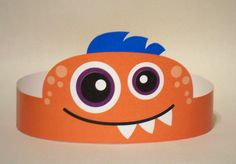 Orange Monster Paper Crown Printable por PutACrownOnIt en Etsy