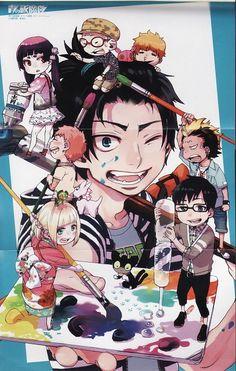 Ao no Exorcist / Blue Exorcist Super manga et animé ! Ao No Exorcist, Blue Exorcist Anime, Anime K, Anime Expo, Rin Okumura, Mephisto, Fanart Manga, Manga Art, Noragami