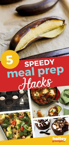 These 5 clever food hacks are sure to speed up the time you spend prepping, cooking and cleaning up your meals. You don't have time to miss these ideas! One Skillet Meals, One Pot Meals, Easy Meals, Healthy Eating Tips, Easy Healthy Recipes, Nutritious Meals, Healthy Meals, National Nutrition Month, Baked Banana