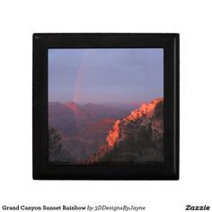 Grand Canyon Sunset Rainbow Jewelry Box