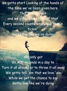 Live like we're dying ~ Kris Allen