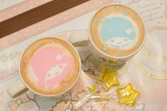 Gentle pastel colors of pink and sky blue. Sprinkled motifs of stars and ribbons. A little unique cafe just op...