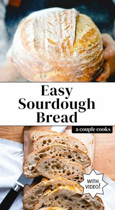 This easy sourdough bread recipe breaks down exactly how to make a great artisan loaf! Easy Sourdough Bread Recipe, Sourdough Starter Discard Recipe, Holiday Recipes, Great Recipes, Artisan Bread Recipes, Couple Cooking, Bread And Pastries, Cooking Recipes, Track