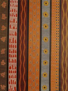 Amazing Australian Aboriginal Artwork by Raymond Walters Japanangka / Anmatyerre Traditional Stories - Men's Ceremony is the title of the painting. Indigenous Australian Art, Traditional Stories, Aboriginal Artwork, Colorful Artwork, Aud, Handsome, People, Photography, Painting