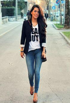 Jeans with blazer