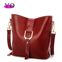 2015 new European and American style 100% natural cowhide genuine leather messenger bags for women bucket shoulder bag(China (Mainland))