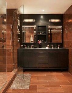 Bathroom Gray Bathroom Walls, White Vanity Bathroom, Modern Bathroom, Small Bathroom, Master Bathroom, Bathroom Ideas, Industrial Bathroom, Rustic Bathrooms, Dream Bathrooms