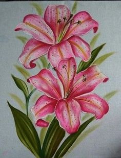 Arte floral - New Site Painting Patterns, Fabric Painting, Lily Painting, Watercolor Flowers, Watercolor Paintings, Lilies Drawing, Fabric Paint Designs, Flower Sketches, Color Pencil Art