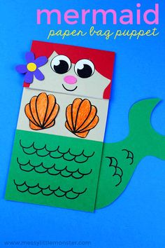 Mermaid Paper Bag Puppet – a Fun Under the Sea Theme Craft