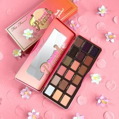 """Isn't this just sweet as a peach? Our luscious Limited Edition Sweet Peach Palette contains 18 shades of yummy peachy pinks, corals, bronzes, and pops of…"""