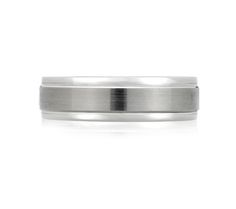 A. Jaffe Satin Brushed Classic Mens Ring