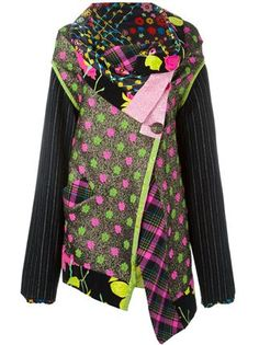 Kenzo Vintage asymmetric panelled coat