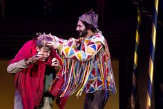 THE HUNCHBACK OF NOTRE DAME at Paper Mill Playhouse Photos by Jerry Dalia -- Michael Arden as Quasimodo and Erik Liberman as Clopin Trouillefou